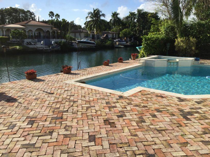 waterside pool patio installation near Fort Lauderdale